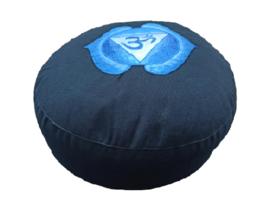 Meditatiekussen blauw , 6e chakra Ajña
