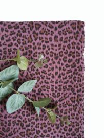 Monddoekjes luipaardprint paars 2-pack