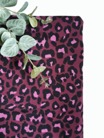 Luipaard deken fuchsia