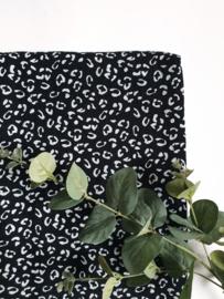 Monddoekjes luipaard zwart 2-pack