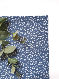 Monddoekjes luipaard indigo blauw 2-pack