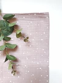 Monddoekjes stip licht roze 2-pack