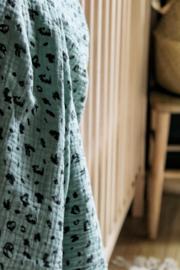 Hydrofiel doek panter oud groen