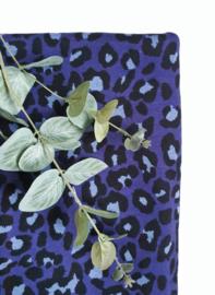 Luipaard deken paarsblauw