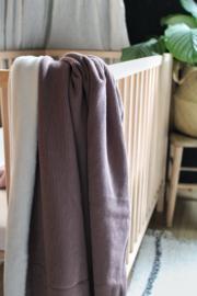 Rib deken mauve