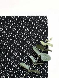 Hydrofiel doek regendrup zwart
