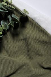 Rib deken olijf