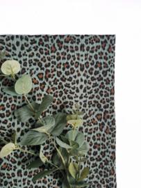 Monddoekjes luipaardprint oud groen 2-pack