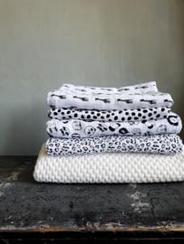 Hydrofiel doek luipaard wit