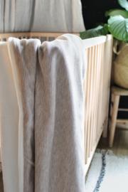 Rib deken naturel