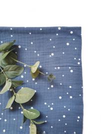 Monddoekjes stip indigo blauw 2-pack