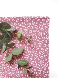 Monddoekjes luipaard roze 2-pack