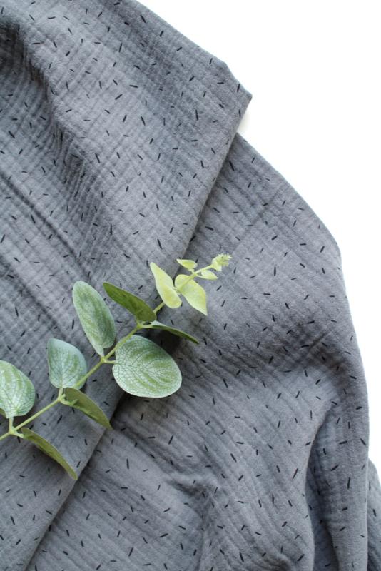 Hydrofiel doek Sprinkels grijsblauw