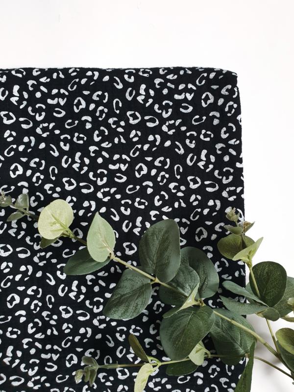 Hydrofiel doek luipaard zwart