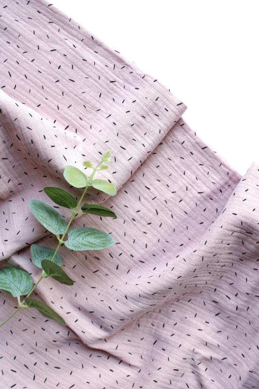 Hydrofiel doek Sprinkels licht roze