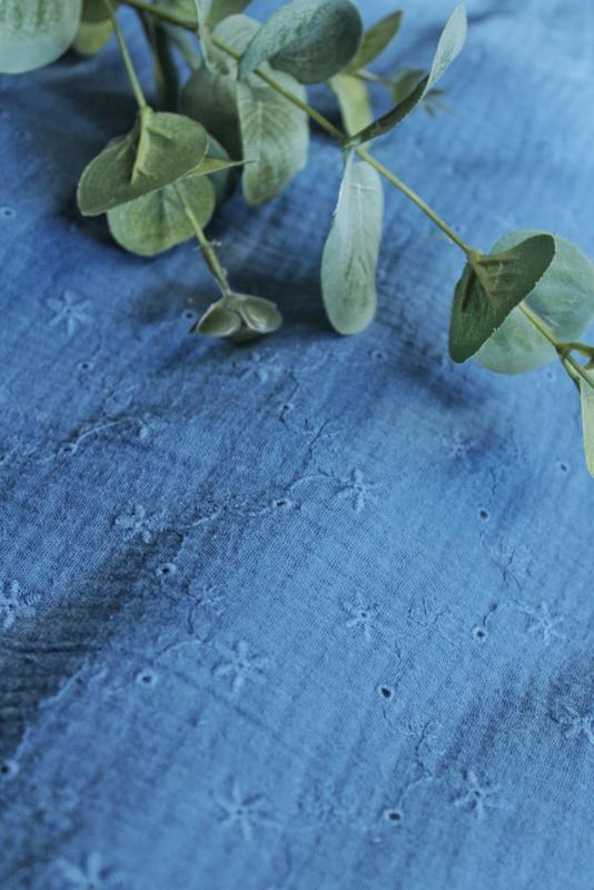 Hydrofiel doek star 90's indigo