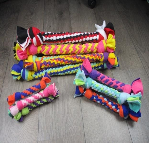 Flostouwen fleece hondenspeelgoed