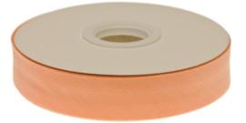 Zalm gevouwen biaisband 20 mm