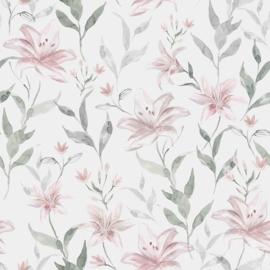 Tricot Family Fabrics lilies