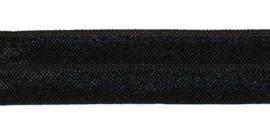 Zwart elastisch biaisband 20 mm