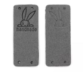 Lederen kleding label: konijn