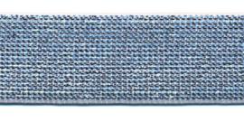 Effen elastiek zilver 25 mm