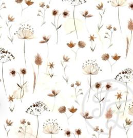 Tricot Family Fabrics pressed flower