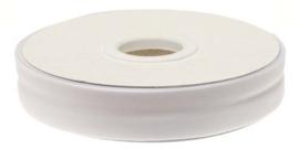 Wit gevouwen biaisband 20 mm
