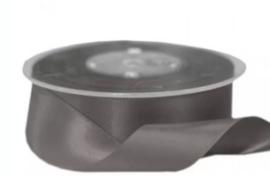 Satijnband donkergrijs 25 mm