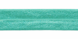 Mintgroen elastisch biaisband 20 mm