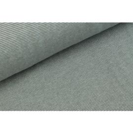 Boordstof stripes silver