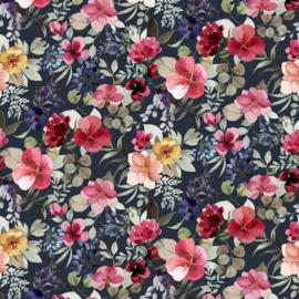 tricot poppy new flower navy