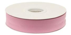 Roze gevouwen biaisband 20 mm