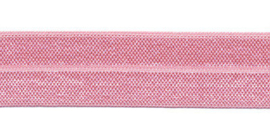 Lichtroze elastisch biaisband 20 mm