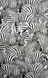 Canvas Zebra kudde