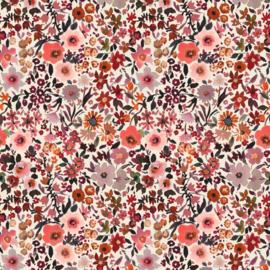 tricot poppy fleurs