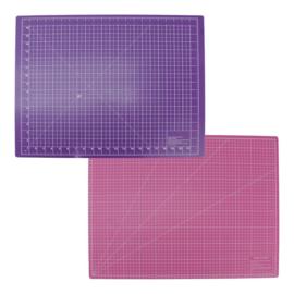 Snijmat 45x60cm paars/roze