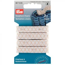 Prym knoopsgaten elastiek met 3 knopen
