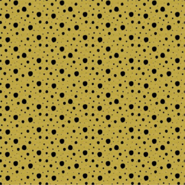 French terry dots oker