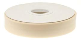 Creme gevouwen biaisband 20 mm