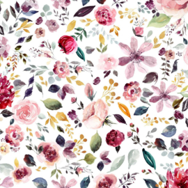 tricot painted flower white