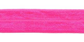 Neon roze elastisch biaisband 20 mm