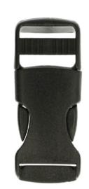 Turbo gesp 20,25 of 30 mm zwart