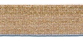 Effen elastiek goud 25 mm