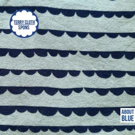 About blue - dotty stripes