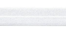 Wit  elastisch biaisband 20 mm