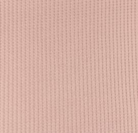 Jersey wafel oud roze