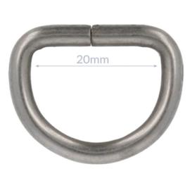 D-ring metaal zwart/zilver/brons 20 mm