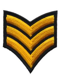 Applicatie leger geel/goud
