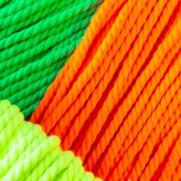 Gedraaid koord 5mm Neon